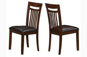 1805 Antique Oak / Brown Side Chair Set of 2