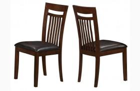 1805 Antique Oak / Brown Side Chair Set of 2