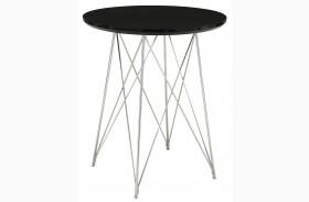 2347 Glossy Black / Chrome Metal Bar Table