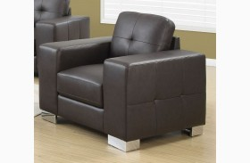 8221BR Dark Brown Bonded Leather Chair