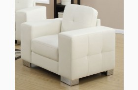 8221IV Ivory Bonded Leather Chair