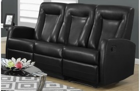 82BK-3 Black Bonded Leather Reclining Sofa