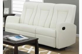 82IV-3 Ivory Bonded Leather Reclining Sofa