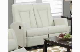 82IV-2 Ivory Bonded Leather Reclining Loveseat