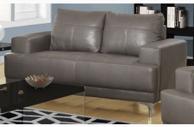 8602GY Charcoal Gray Bonded Leather Loveseat