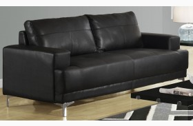 8603BK Black Bonded Leather Sofa