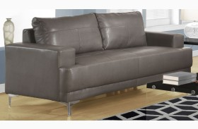 8603GY Charcoal Gray Bonded Leather Sofa