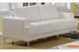8603IV Ivory Bonded Leather Sofa