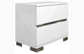Vivente Icon White High Gloss Nightstand