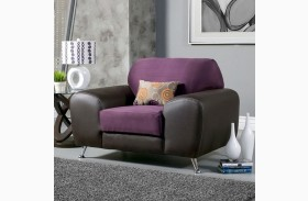 Avdira Grape Suede and Leatherette Chair