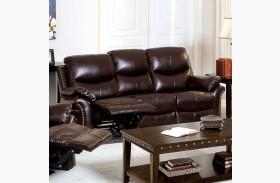 Dudhope Rustic Dark Brown Reclining Sofa