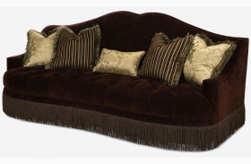 Imperial Court Radiant Chestnut Tufted Sofa
