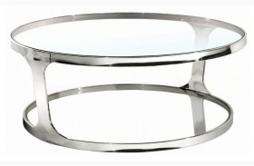 Iris Clear Glass Coffee Table