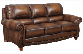 James Monaco Leather Sofa