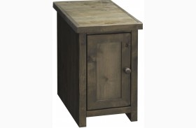 Joshua Creek Barnwood Chair Table with Door