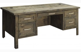 Joshua Creek Barnwood Executive Desk