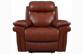 France Saddle Leather Recliner
