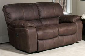 Jupiter Dark Kahlua Dual Reclining Loveseat