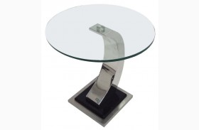 Katniss Glass End Table
