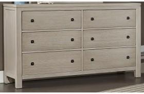 Kismet Sandstone Oak 6 Drawer Dresser