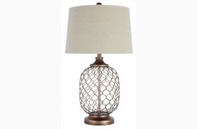 Gold Metal Table Lamp