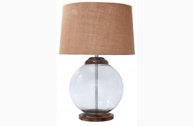 L430004 Transparent Glass Table Lamp