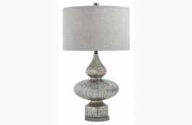 Subira Silver/Gun Metal Glass Table Lamp