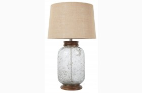 L430204 Transparent Glass Table Lamp