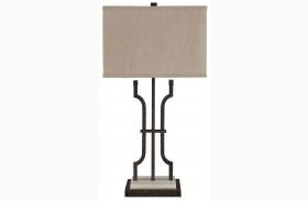Malik Brown Metal Table Lamp