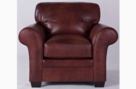 Zachary Leather Bark Top Grain Leather Chair