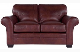 Zachary Leather Bark Top Grain Leather Loveseat