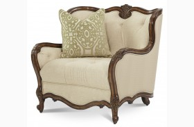 Lavelle Melange Wood Trim Chair and a Half