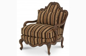 Lavelle Melange Striped Bergere Wood Chair