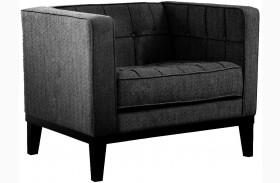 Roxbury Charcoal Fabric Arm Chair