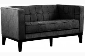 Roxbury Charcoal Fabric Loveseat