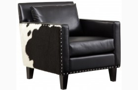Dallas Black Leather Chair