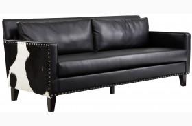 Dallas Black Leather Sofa