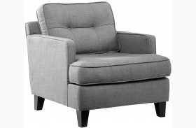 Eden Cement Gray Fabric Chair