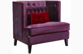 Moulin Purple Velvet Chair