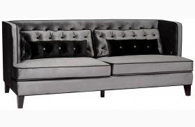 Moulin Gray Velvet Sofa