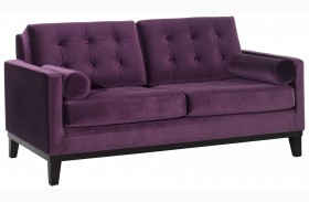 Centennial Purple Velvet Loveseat