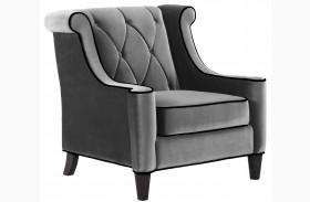 Barrister Gray Velvet Chair