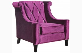 Barrister Purple Velvet Chair