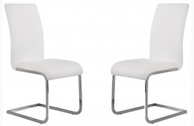 Amanda White Side Chair Set of 2