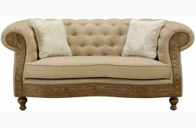 Barstow Sand Fabric Loveseat