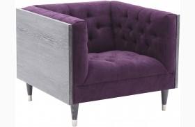 Bellagio Purple Fabric Chair