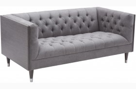 Bellagio Mist Fabric Loveseat