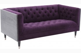 Bellagio Purple Fabric Loveseat