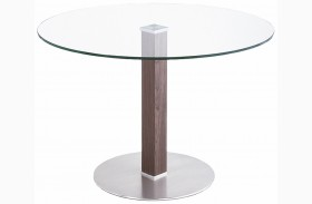 Cafe Brushed Stainless Steel Dining Table