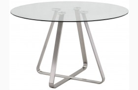 Cameo Clear Glass Dining Table